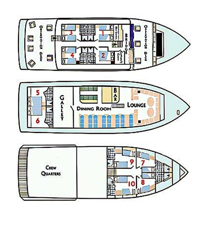 Letty deck plan